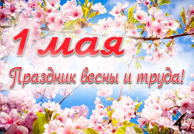 С Праздником Весны и Труда.